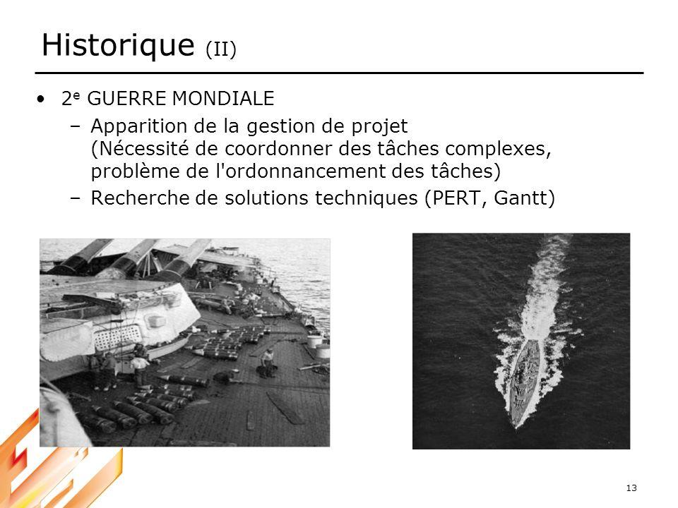 Historique (II) 2e GUERRE MONDIALE