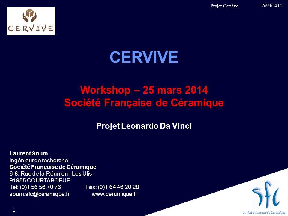 Société Française de Céramique Projet Leonardo Da Vinci