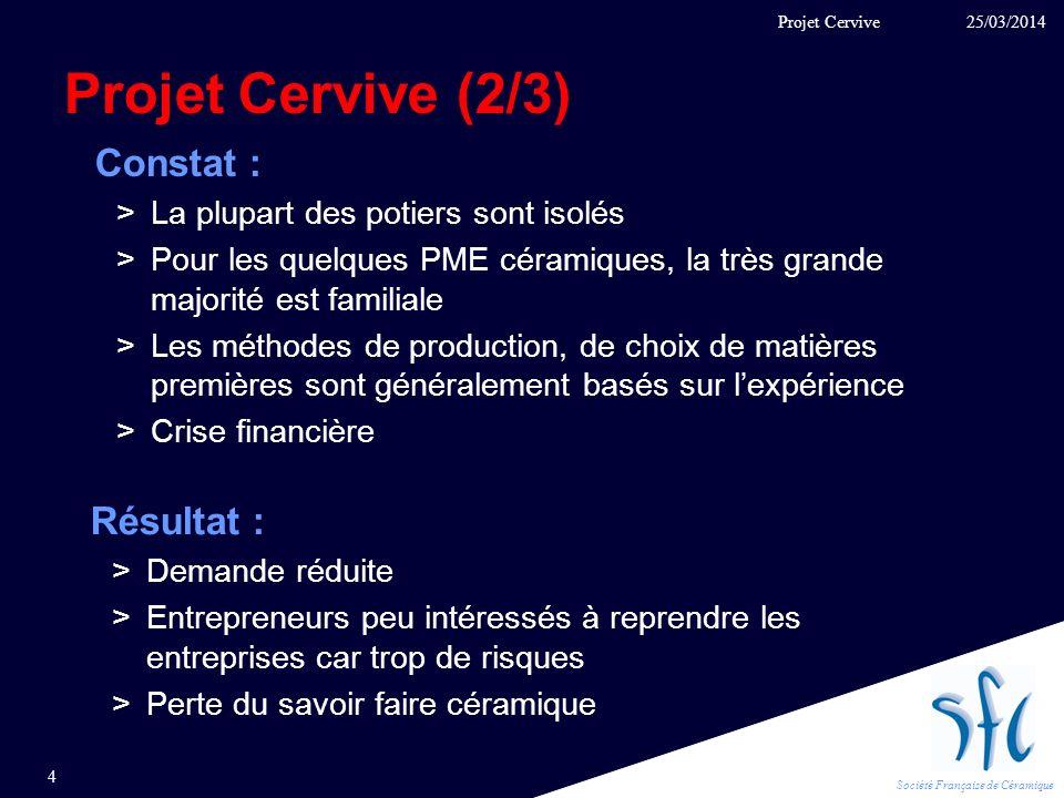 Projet Cervive (2/3) Constat : Résultat :