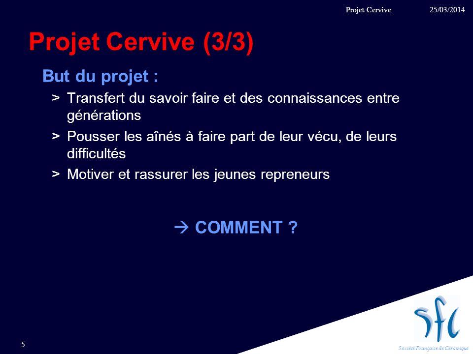 Projet Cervive (3/3) But du projet :  COMMENT