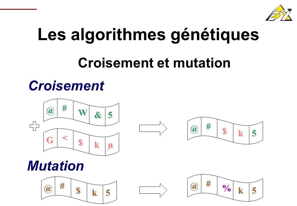 Les algorithmes génétiques Croisement et mutation