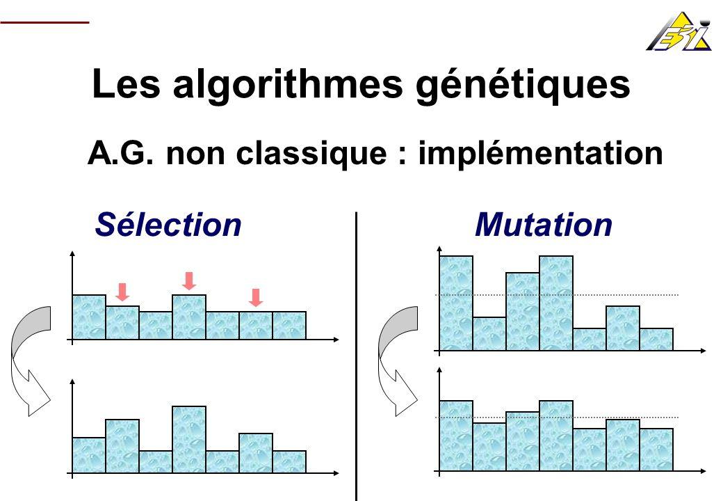 Les algorithmes génétiques A.G. non classique : implémentation