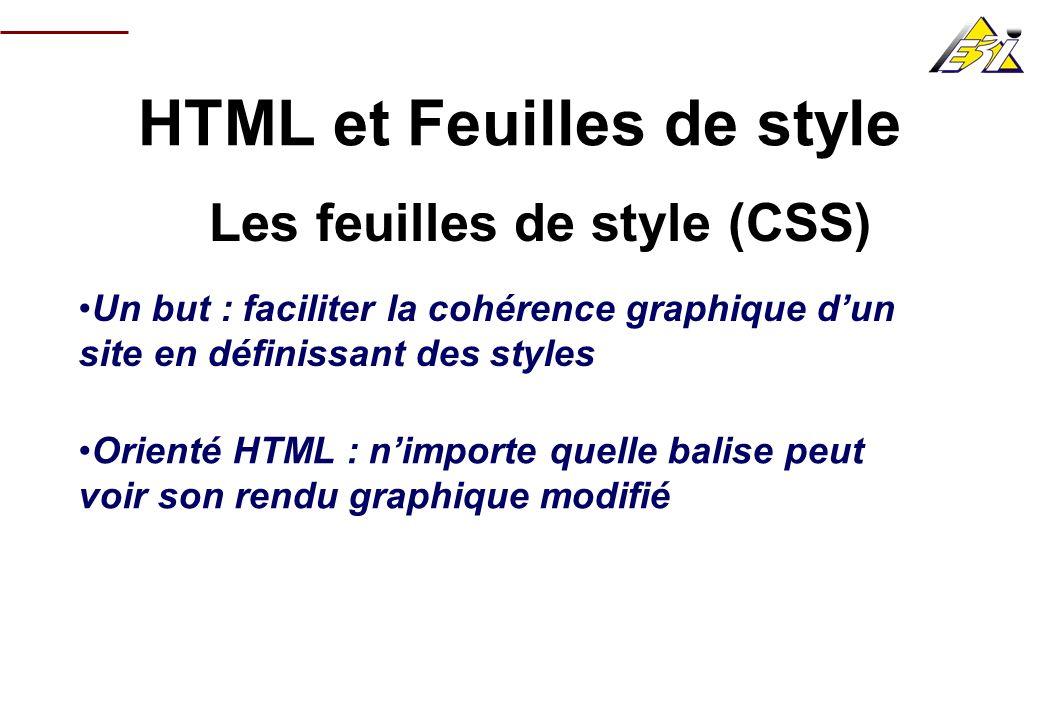 HTML et Feuilles de style Les feuilles de style (CSS)