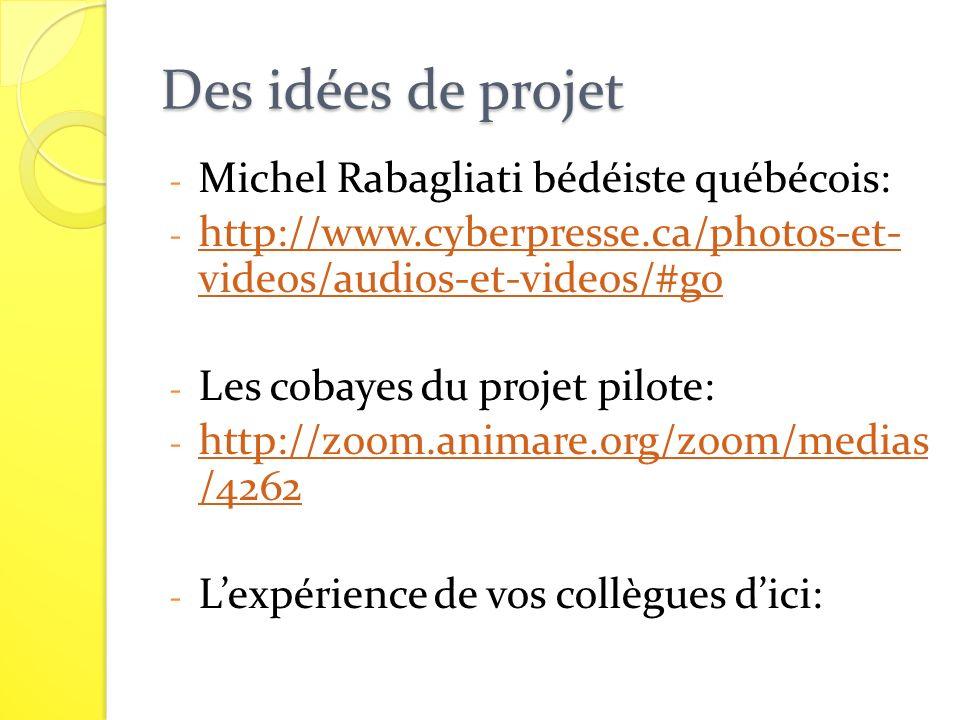 Des idées de projet Michel Rabagliati bédéiste québécois:
