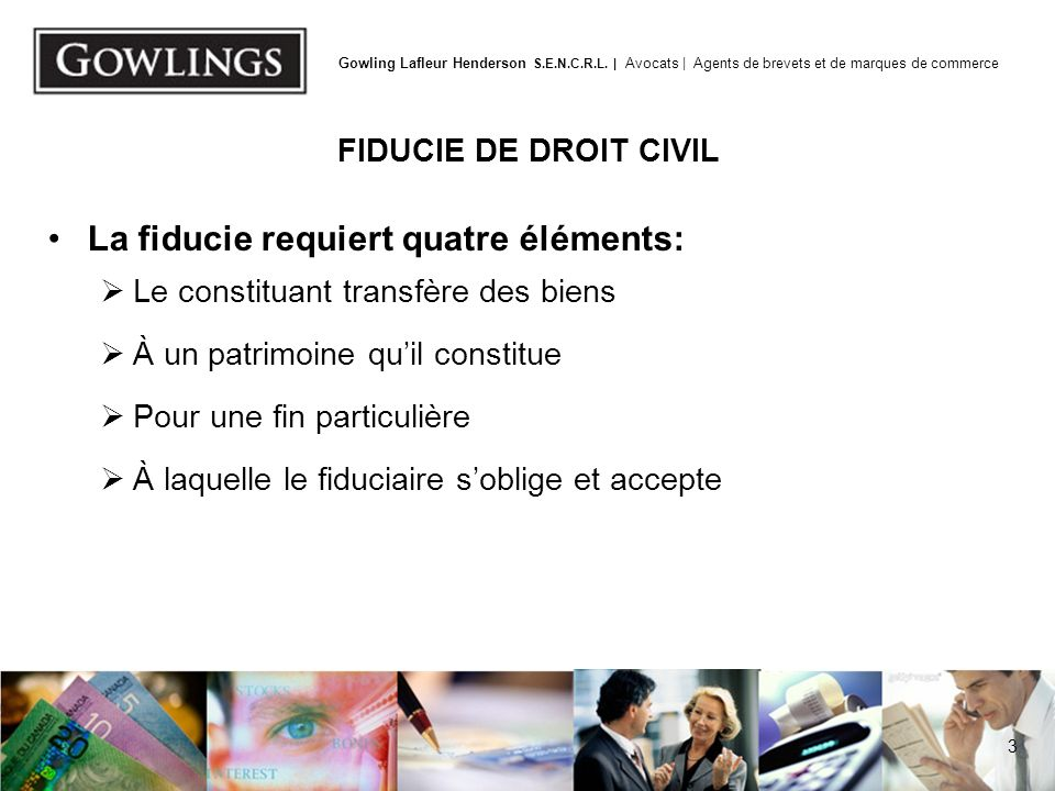 FIDUCIE DE DROIT CIVIL
