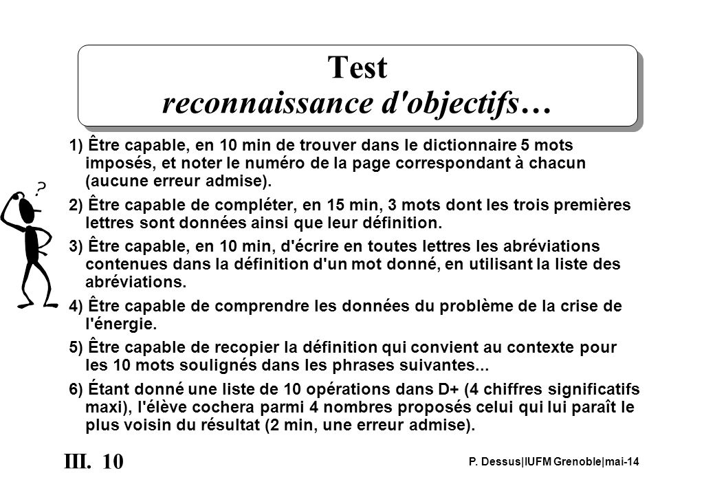 Test reconnaissance d objectifs…