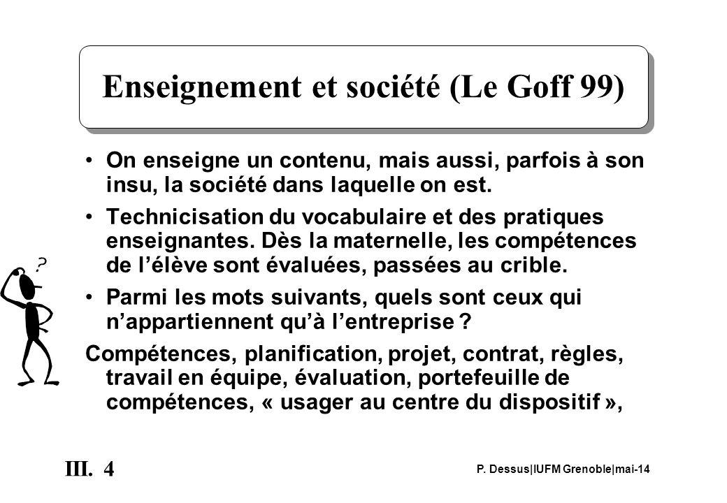 Enseignement et société (Le Goff 99)