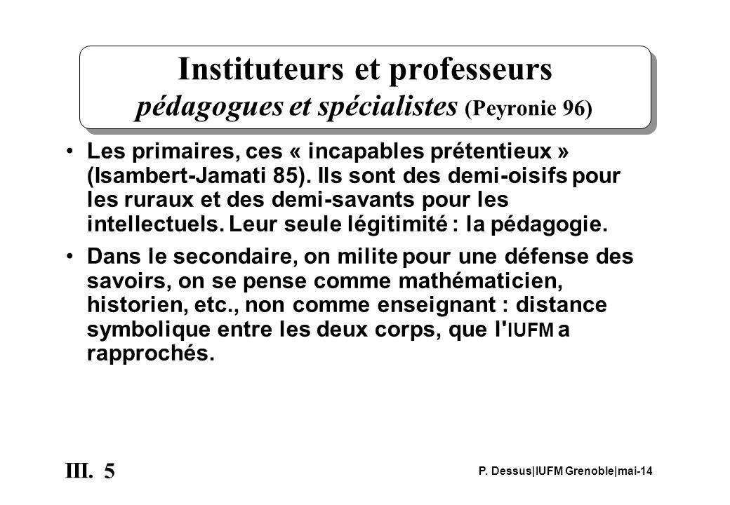 Instituteurs et professeurs pédagogues et spécialistes (Peyronie 96)