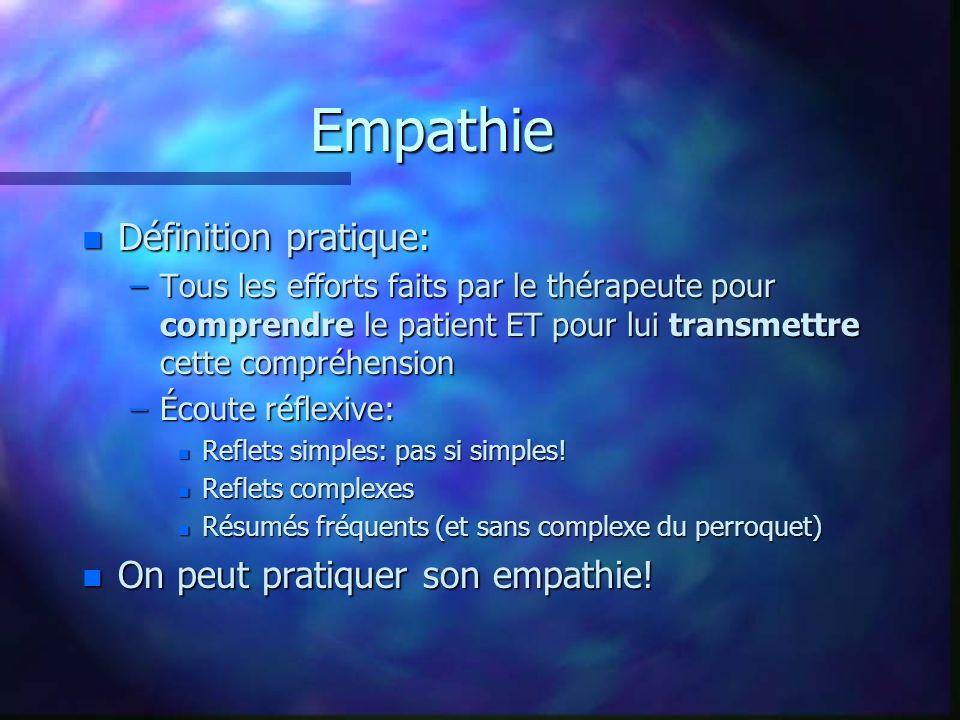 Empathie Définition pratique: On peut pratiquer son empathie!