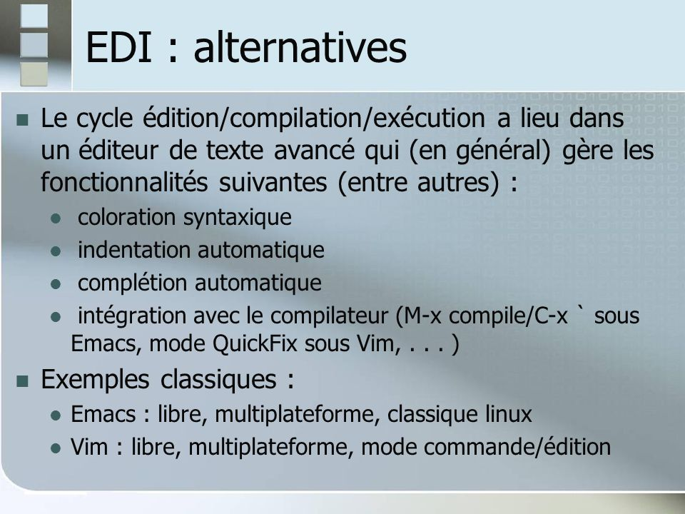 EDI : alternatives