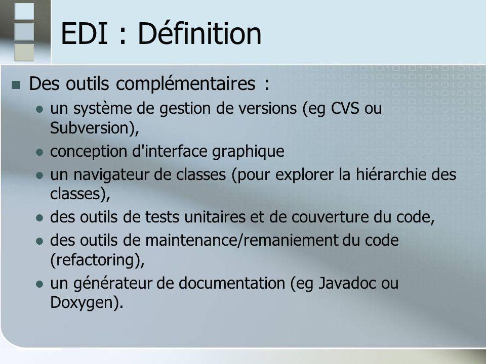 EDI : Définition Des outils complémentaires :