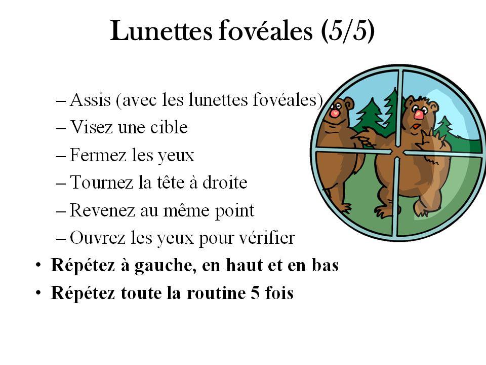Lunettes fovéales (5/5) Il ne faut pas oublier de donner les 5 diapos de cette série