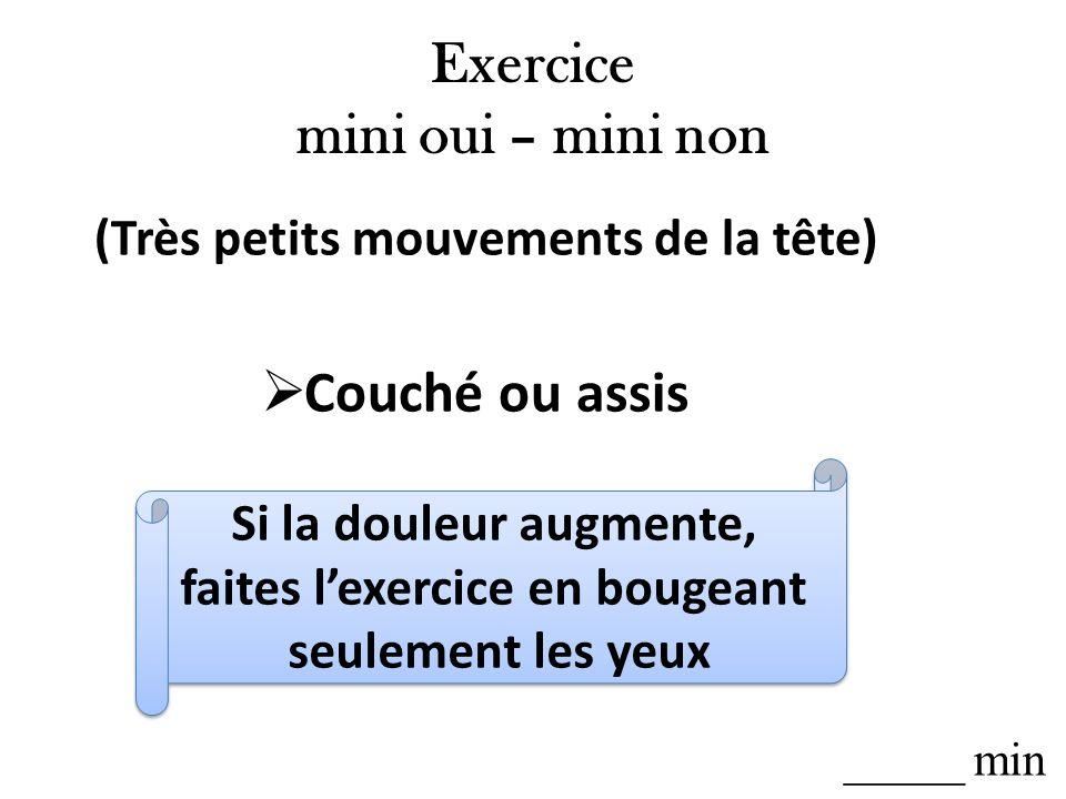 Exercice mini oui – mini non
