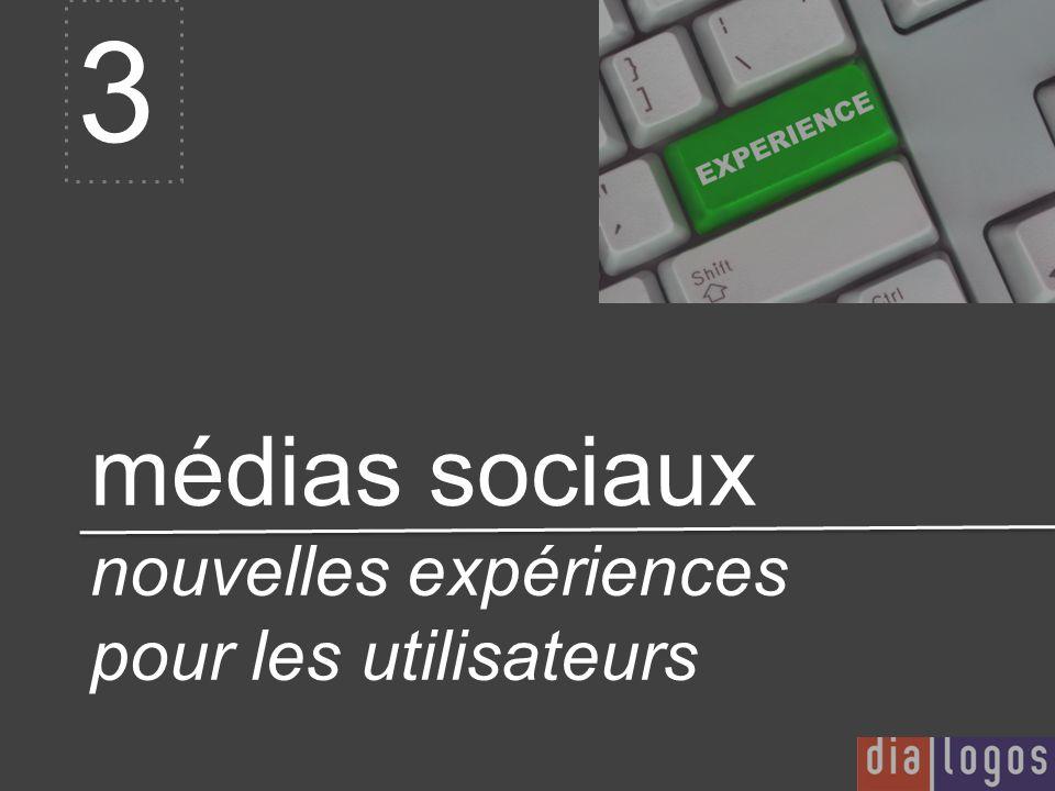 médias sociaux nouvelles expériences pour les utilisateurs