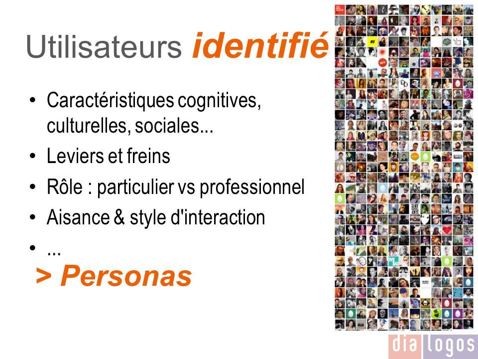 Utilisateurs identifiés
