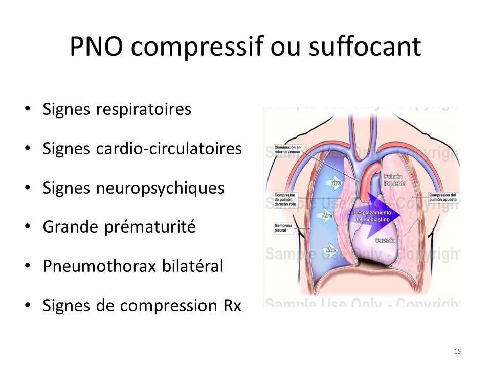 PNO compressif ou suffocant