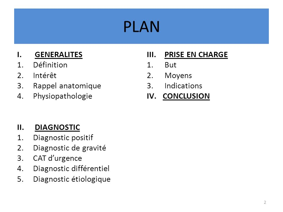 PLAN GENERALITES Définition Intérêt Rappel anatomique Physiopathologie