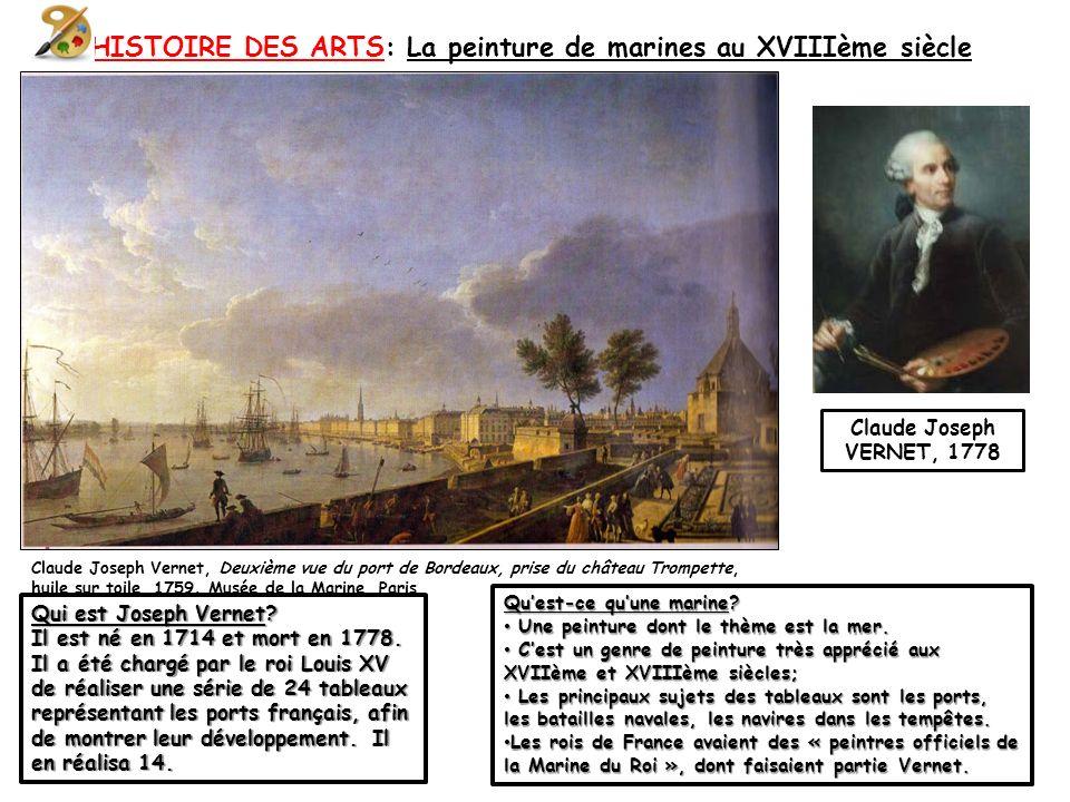 HISTOIRE DES ARTS: La peinture de marines au XVIIIème siècle