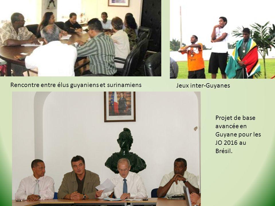 Rencontre entre élus guyaniens et surinamiens