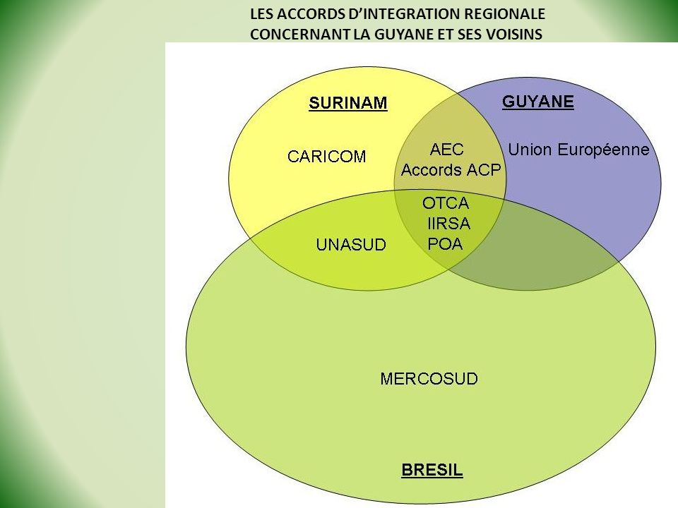 LES ACCORDS D'INTEGRATION REGIONALE