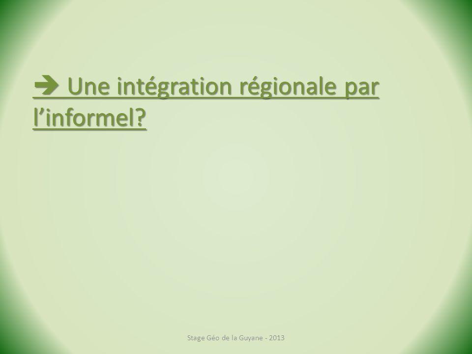  Une intégration régionale par l'informel