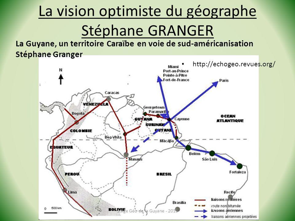 La vision optimiste du géographe Stéphane GRANGER
