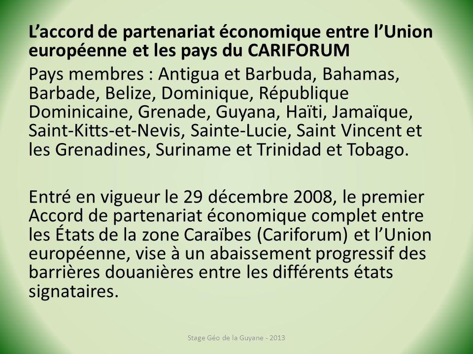 L'accord de partenariat économique entre l'Union européenne et les pays du CARIFORUM