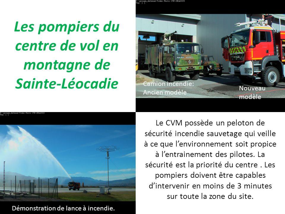 Les pompiers du centre de vol en montagne de Sainte-Léocadie
