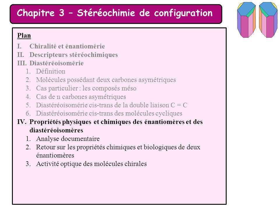Chapitre 3 – Stéréochimie de configuration