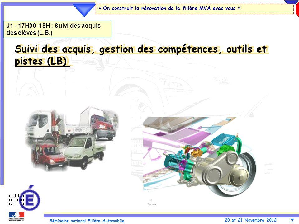 Suivi des acquis, gestion des compétences, outils et pistes (LB)