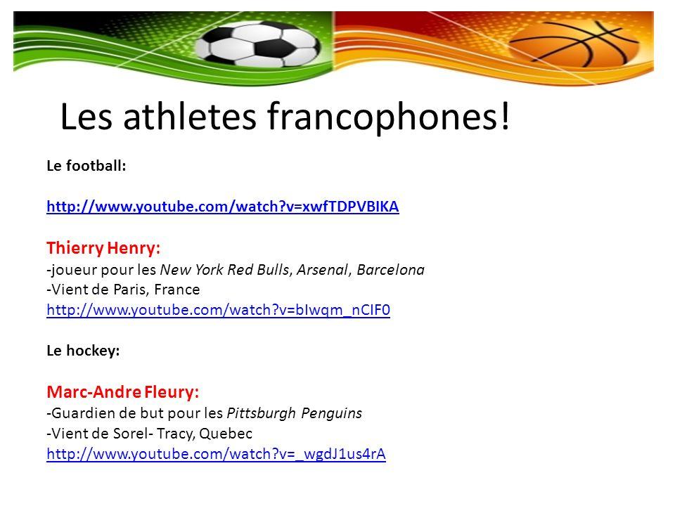 Les athletes francophones!