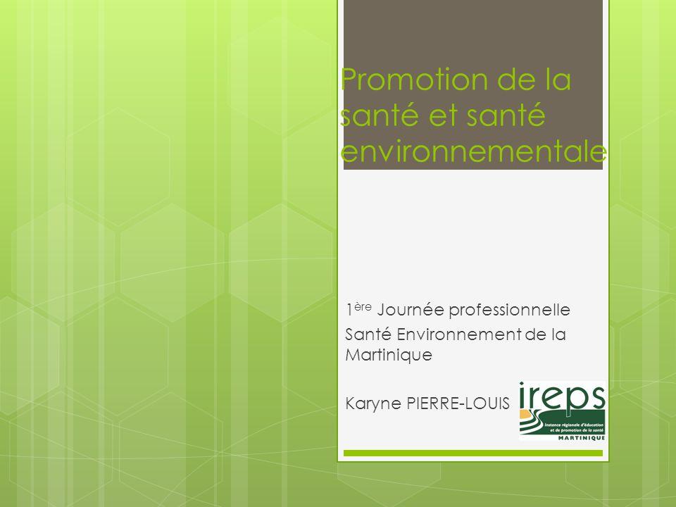 Promotion de la santé et santé environnementale
