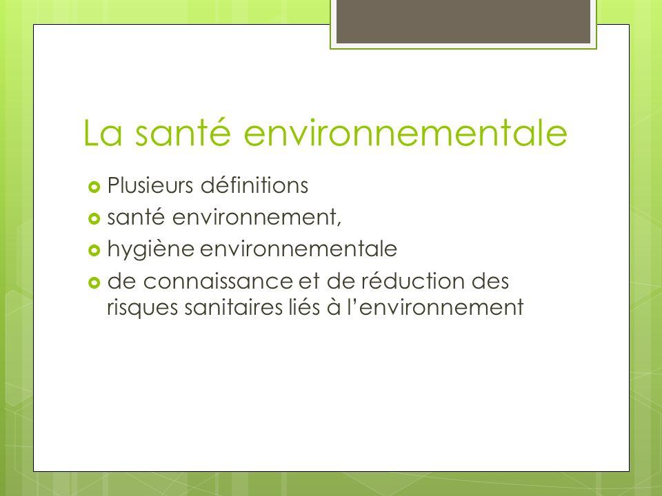 La santé environnementale