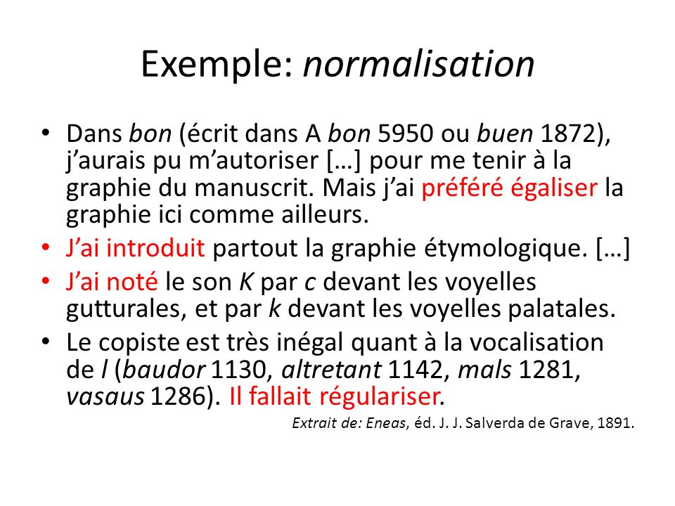 Exemple: normalisation