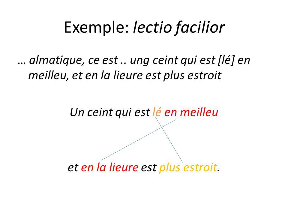 Exemple: lectio facilior