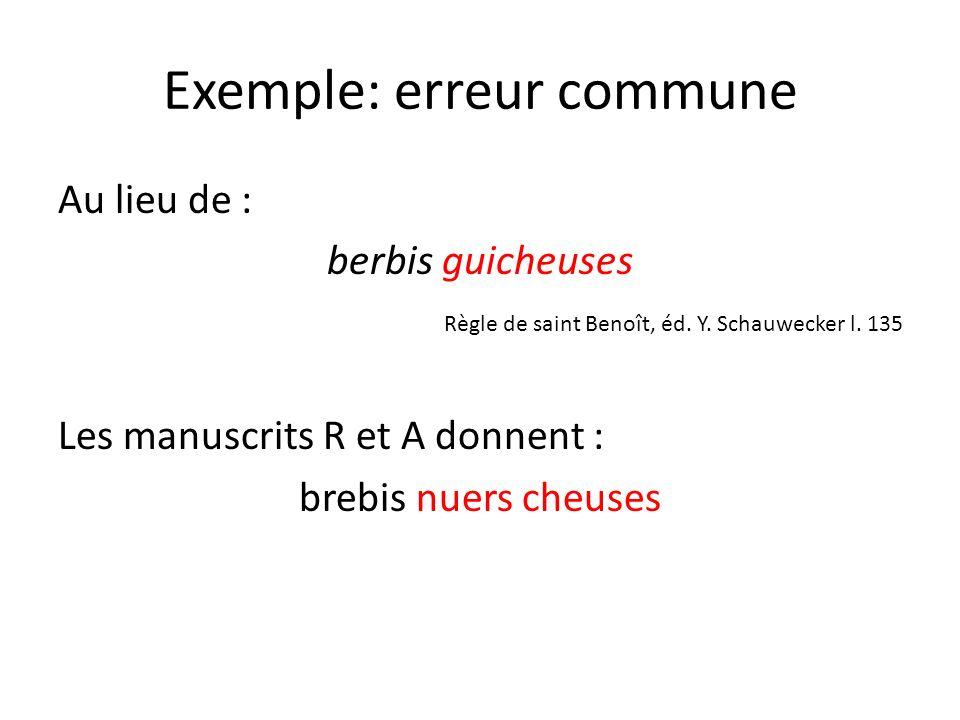 Exemple: erreur commune