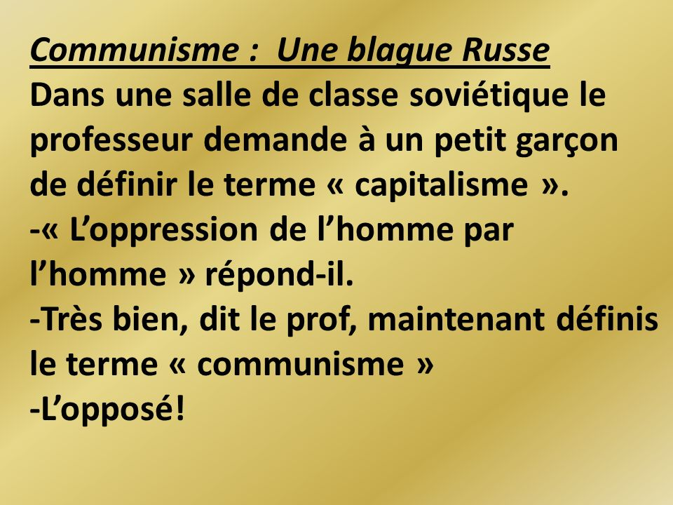 Communisme : Une blague Russe