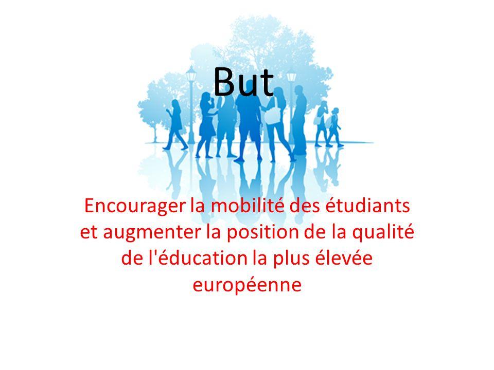 But Encourager la mobilité des étudiants et augmenter la position de la qualité de l éducation la plus élevée européenne.