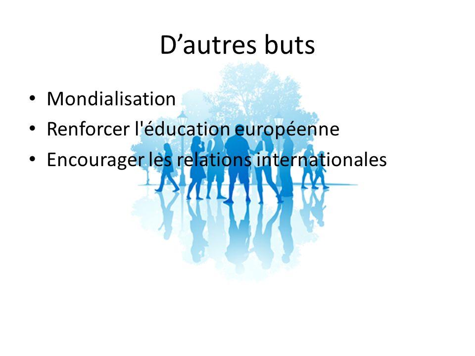 D'autres buts Mondialisation Renforcer l éducation européenne