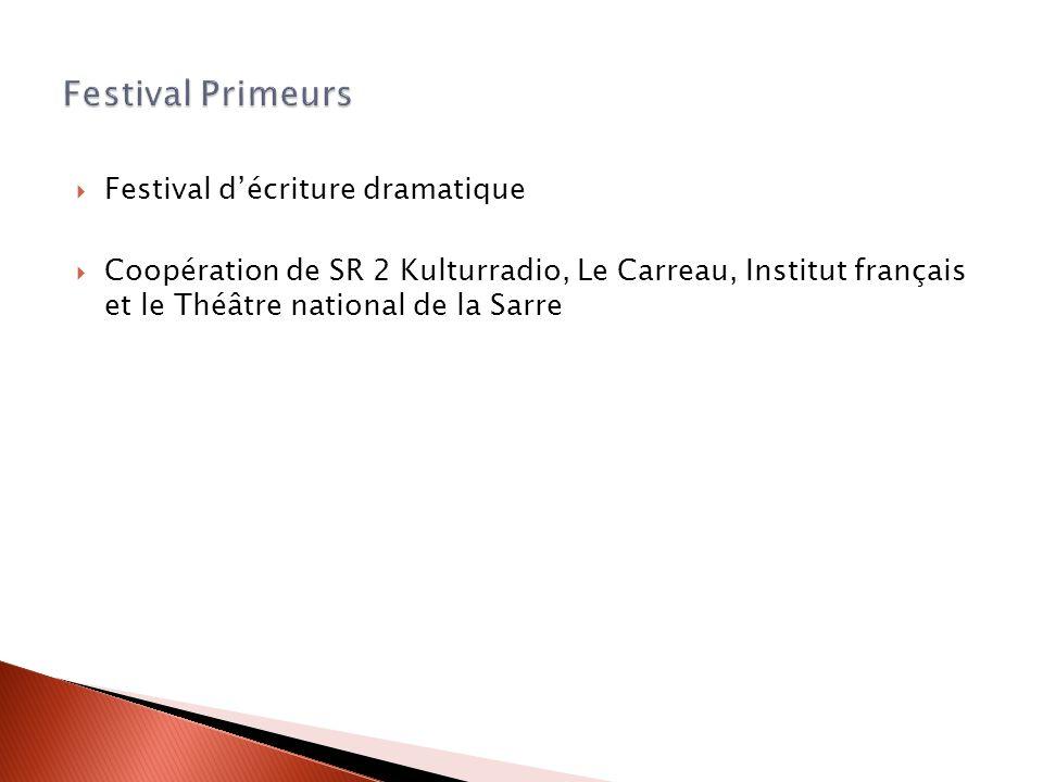 Festival Primeurs Festival d'écriture dramatique