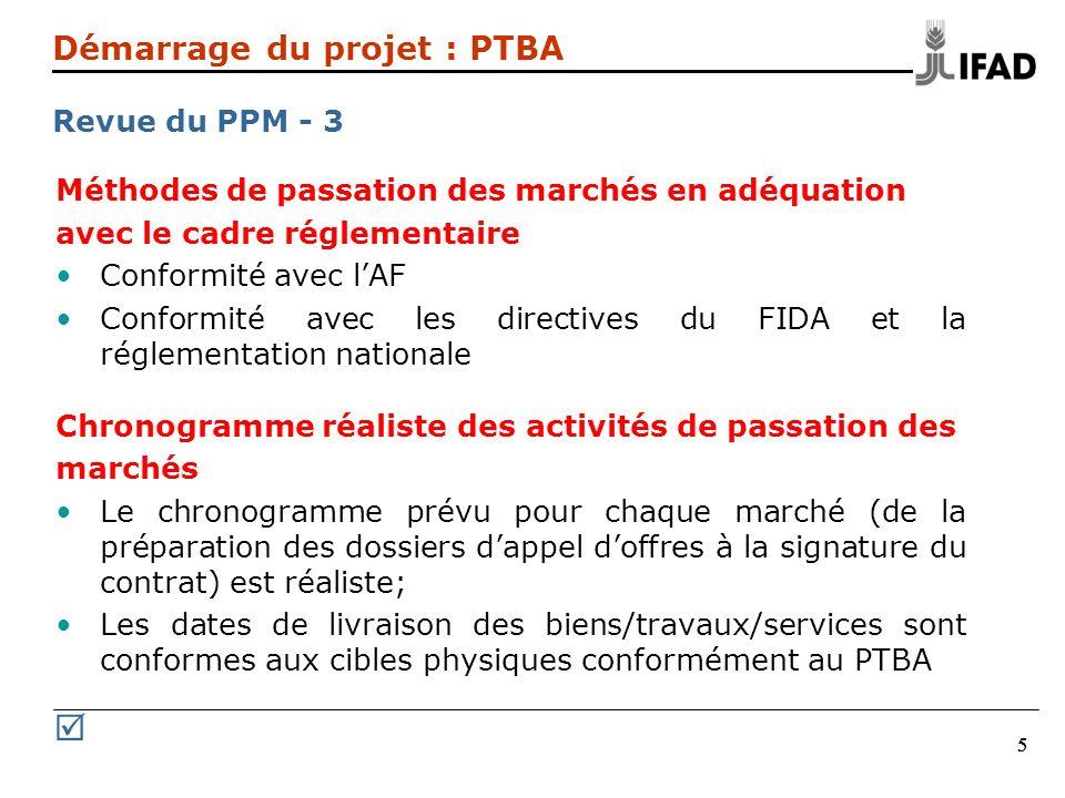 R Démarrage du projet : PTBA Revue du PPM - 3