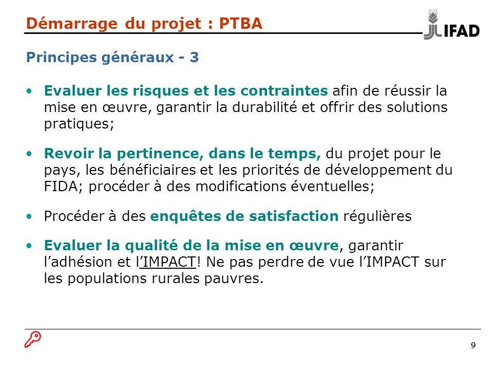 Démarrage du projet : PTBA Principes généraux - 3
