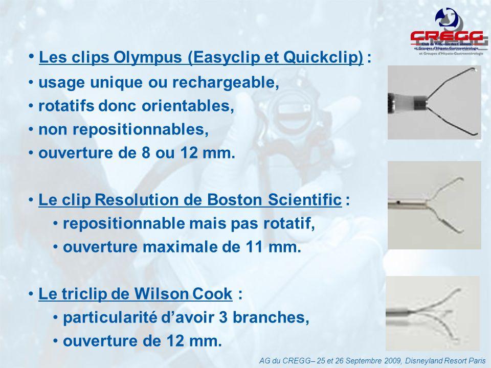 Les clips Olympus (Easyclip et Quickclip) :