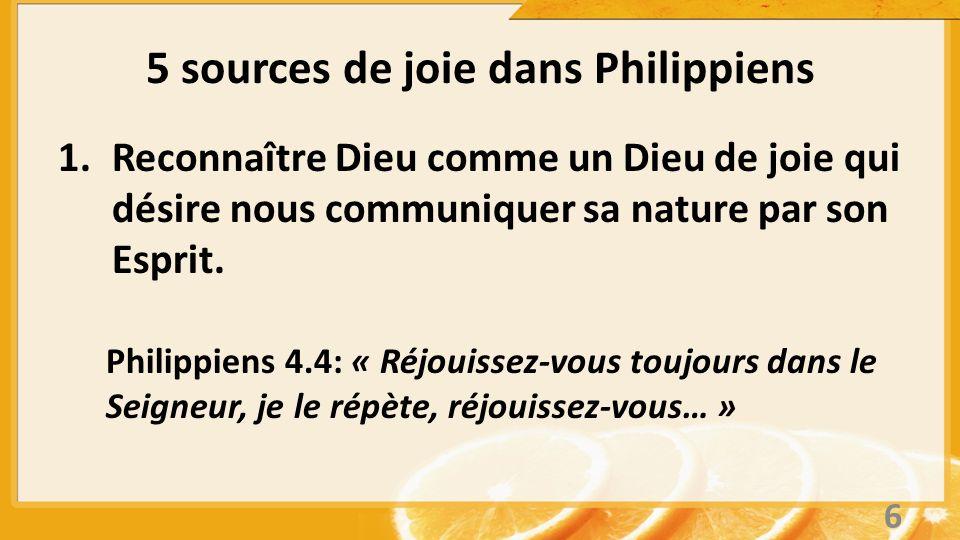5 sources de joie dans Philippiens