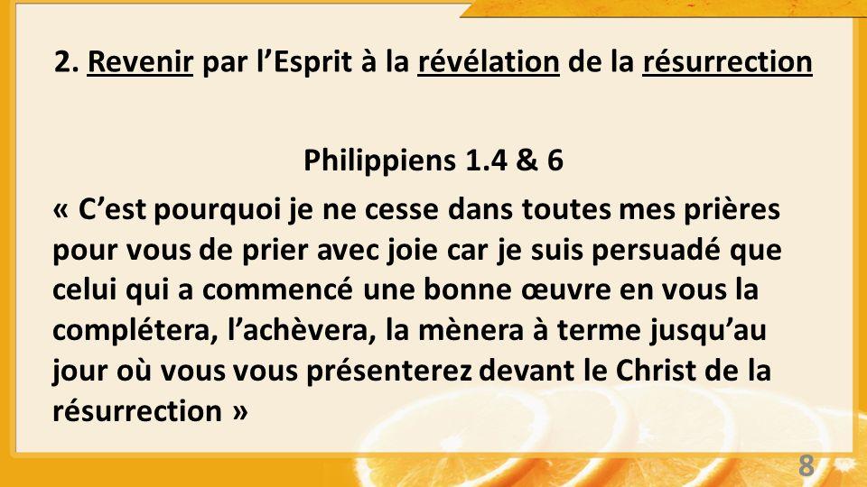 2. Revenir par l'Esprit à la révélation de la résurrection