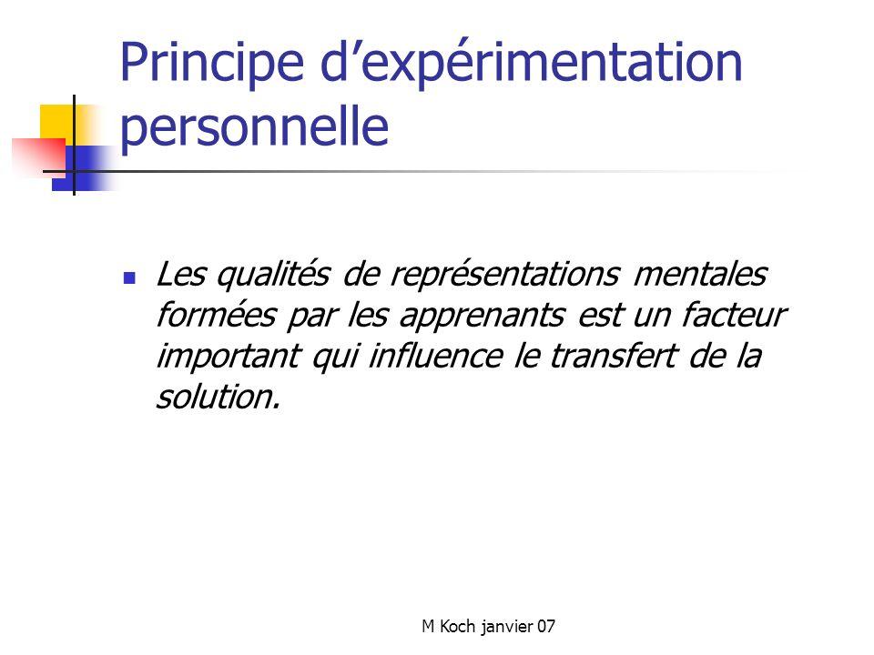 Principe d'expérimentation personnelle