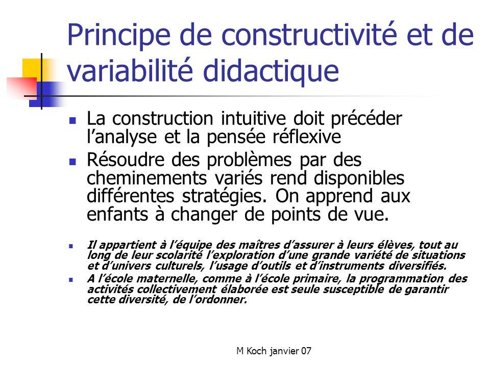 Principe de constructivité et de variabilité didactique