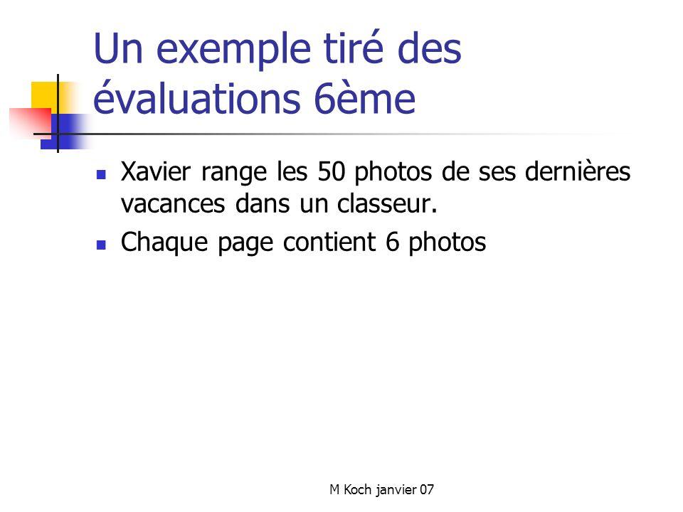 Un exemple tiré des évaluations 6ème