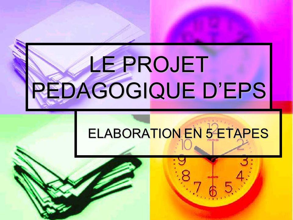 LE PROJET PEDAGOGIQUE D'EPS