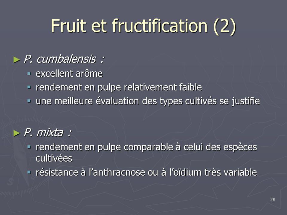 Fruit et fructification (2)